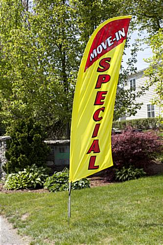 Polyester MOVE-IN SPECIAL yellow banner flag