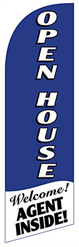 Replacement OPEN HOUSE Vertical Blue Banner Flag