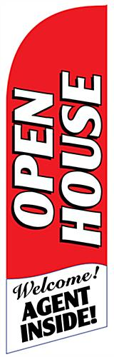 Replacement OPEN HOUSE Red Feather Banner