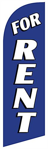 Replacement FOR RENT Blue Advertising Flag Banner