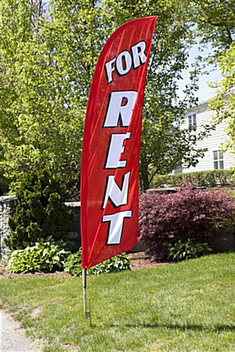 Outdoor FOR RENT Red Promotional Flag