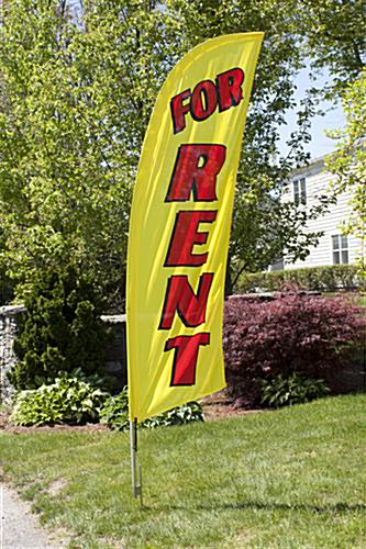 Outdoor FOR RENT Yellow Feather Flag