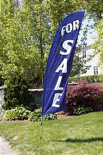 Polyester FOR SALE blue feather banner