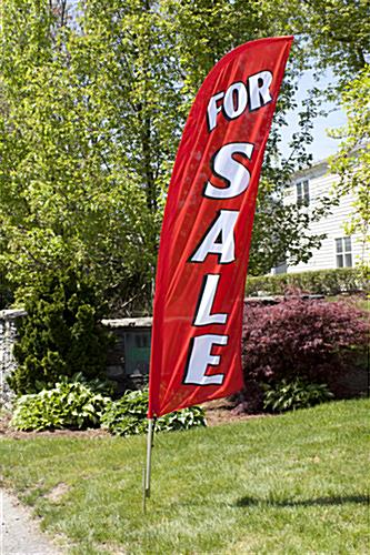 Single-sided FOR SALE red promo flag