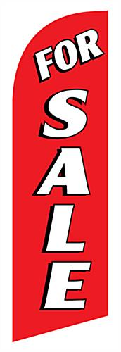 Outdoor FOR SALE red promo flag