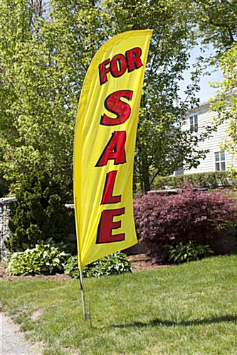 Single-sided FOR SALE yellow message flag