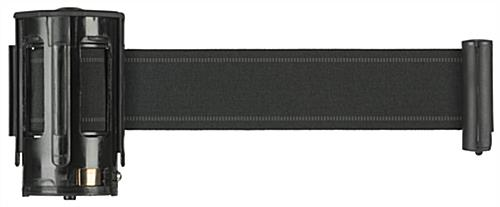 9.5' Retractable Black Crowd Control Belt