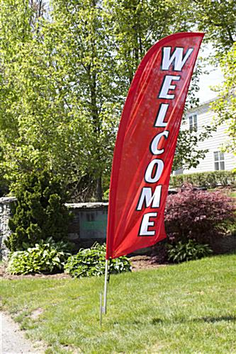 Outdoor WELCOME red promotional flag