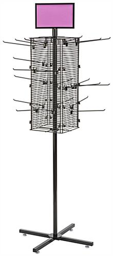"Rotating Grid Rack with 10"" Pegs Includes 20 Attachments"