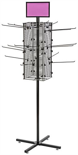 "Rotating Grid Rack with 12"" Pegs Includes Hook Attachments"