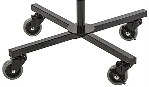 "Rotating Grid Rack with 4"" Pegs Includes Locking Wheels"