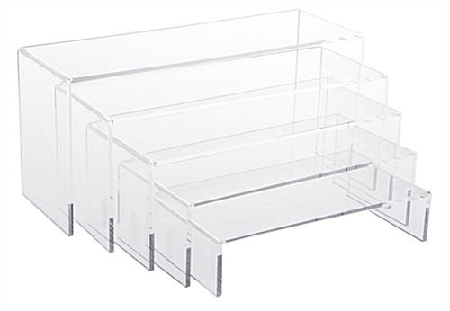 Small Exhibition Stand Near Me : Acrylic risers retail store countertop display stands
