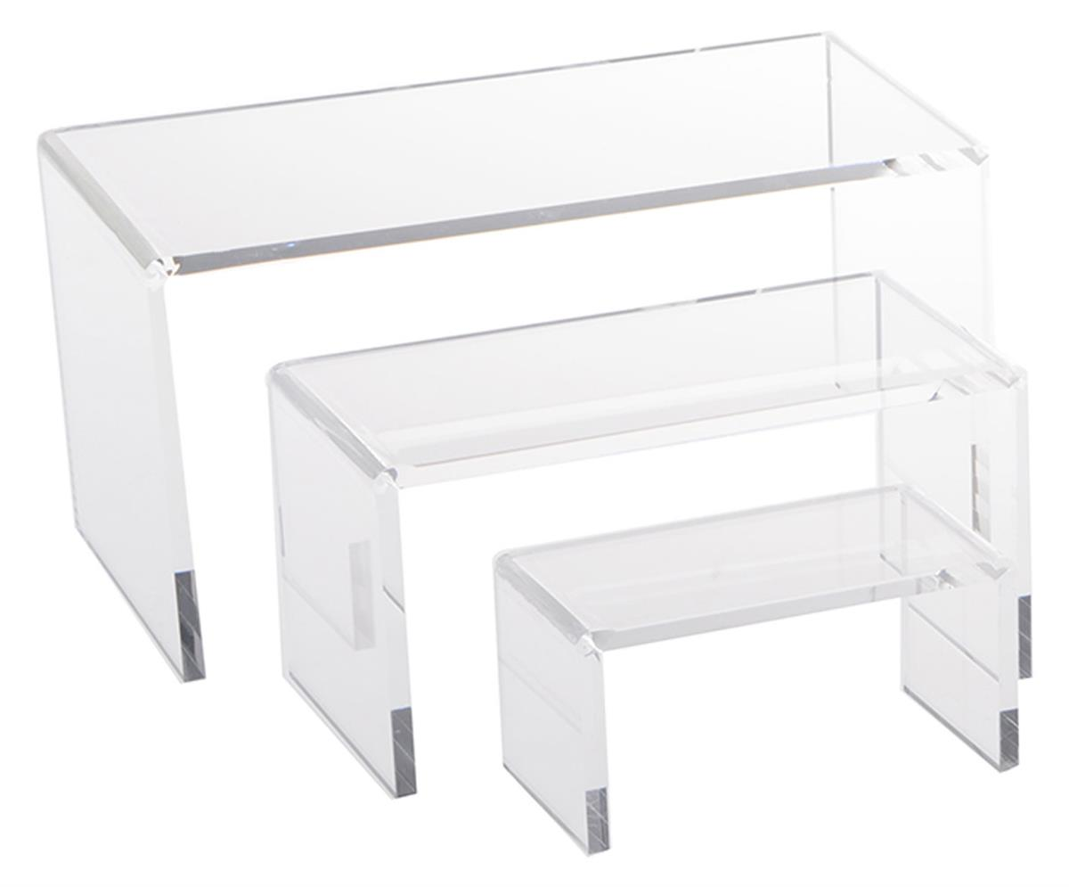 Stackable Retail Riser Merchandise Stand Countertop