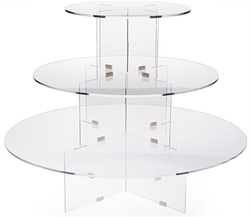 3 Tier Riser Round Clear Acrylic, 3 Tier Round Display Table