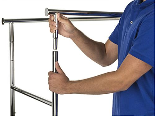 Straight Rail Collapsible Garment Rack