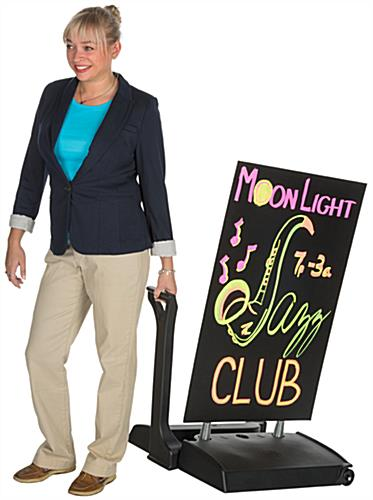Rolling Spring Sidewalk Sign with Recessed Handle