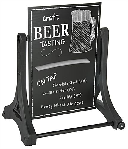 Write-On Swinging Sign with Chalkboard Look