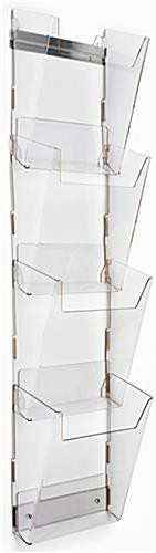 Clear Magazine Wall Rack