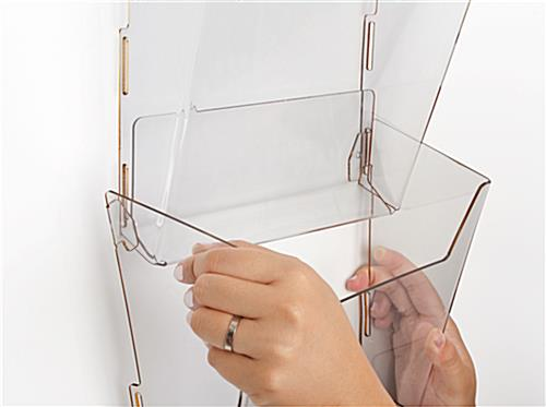 4-Tier Wall Magazine Rack for Retail Locations