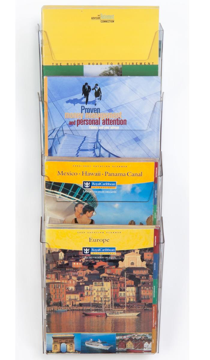 Displays2go Workshop Series 4-Pocket Literature Rack for ...