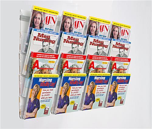 4tier wall magazine rack