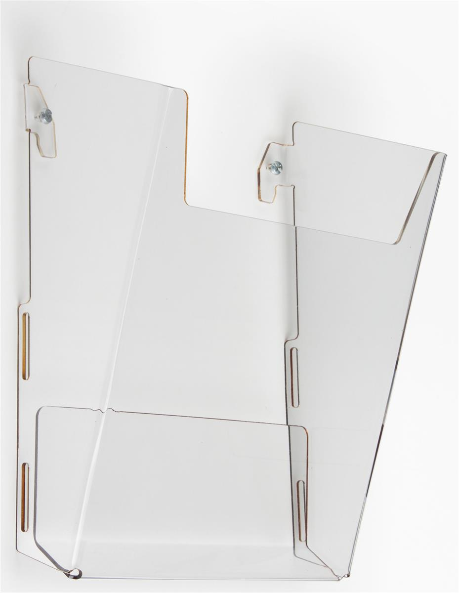 Wall Mount Single Pocket Acrylic Brochure Rack Laser Cut