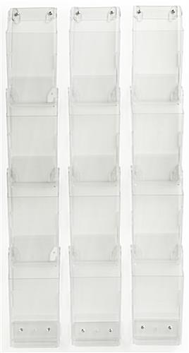 Pamphlet Organizers 12 4x9 Wall Mount Pockets