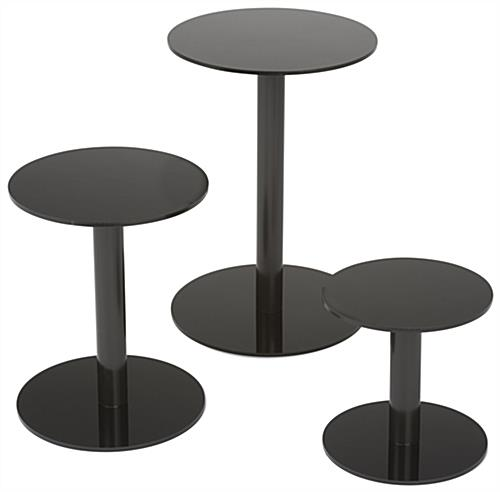 3 Set Countertop Display Pedestals