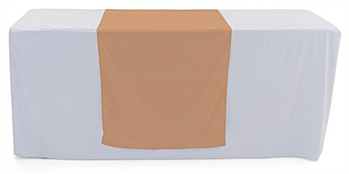 Beige table runner with polyester fabric