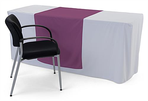 Purple table runner with machine washable design