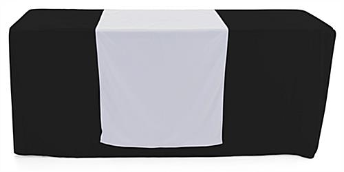 White table runner with machine washable material