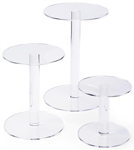 3 Set Acrylic Pedestal Risers ...