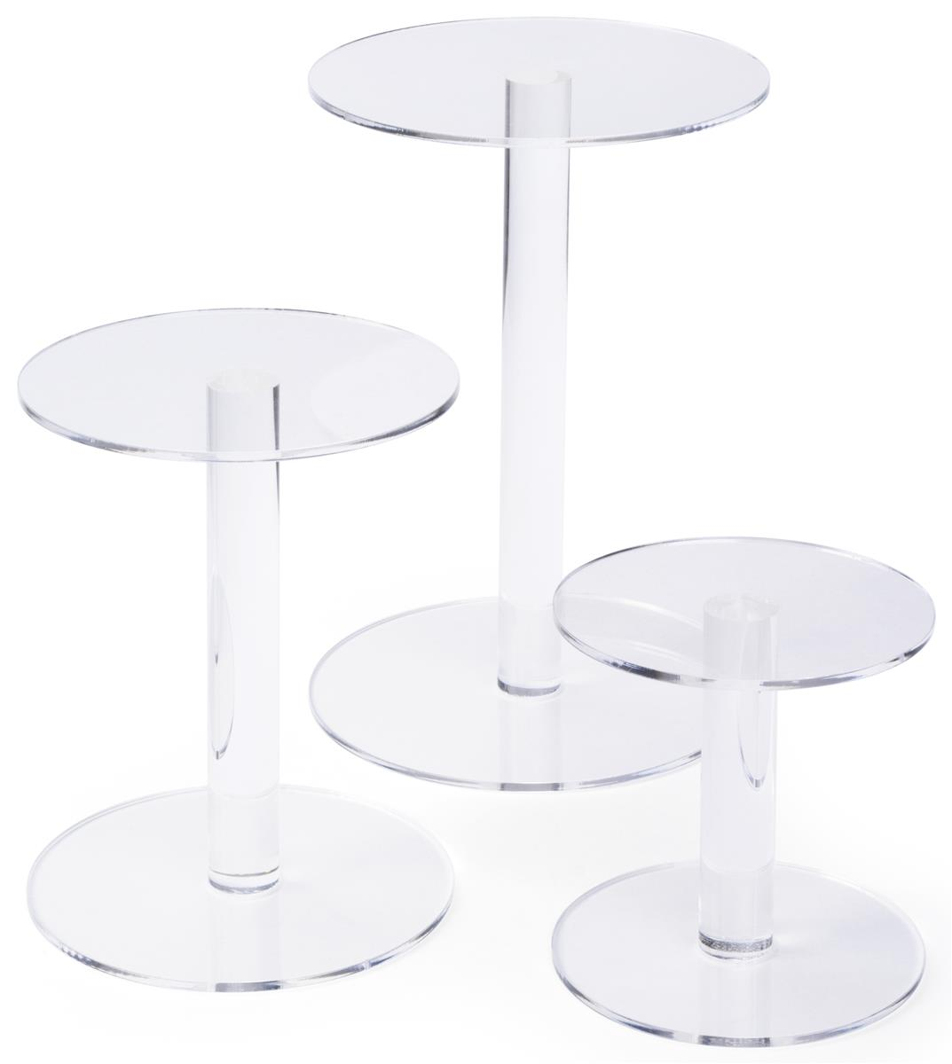 Acrylic Pedestal Risers Clear Construction