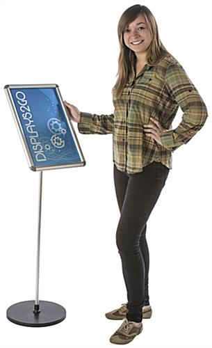 Advertising 11 x 17 Silver Snap Frame Stand