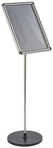 "49.25""H 11 x 17 Silver Snap Frame Stand"