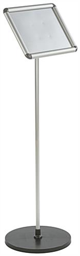 "44.75"" Tall 11 x 8.5 Silver Snap Frame Stand"