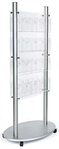 Clear adjustable acrylic floor brochure display stand