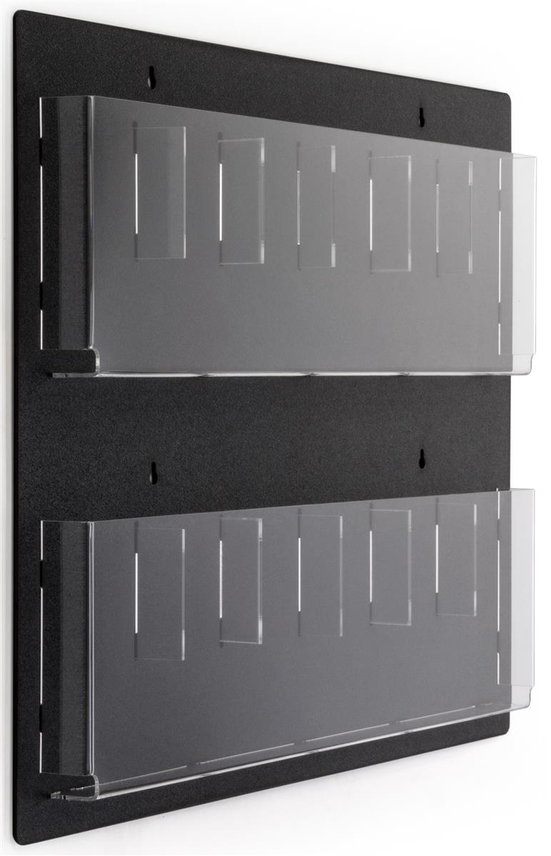 Wall Mount Brochure Holder W 6 12 Adjustable Pockets