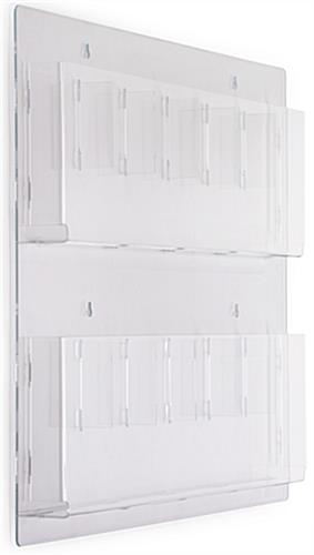 Clear Wall Mounted Magazine Racks