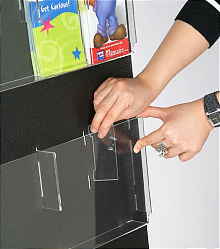 Wall Magazine Rack with Pocket Dividers