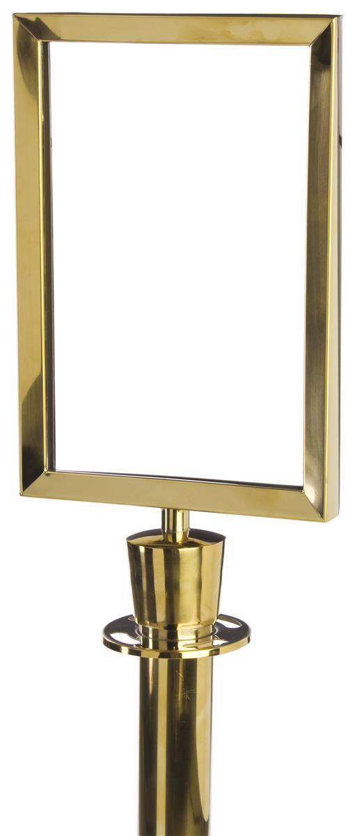 Stanchion Sign Frame Brass