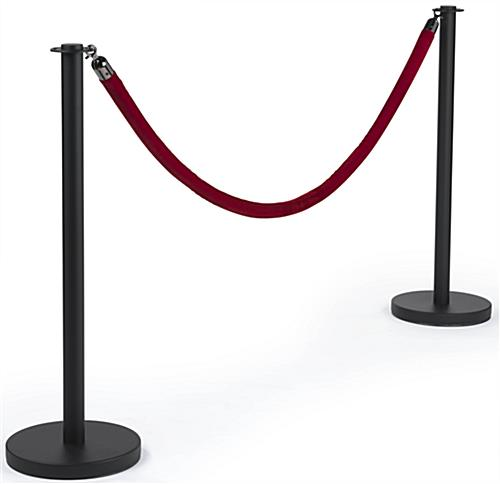 Elegant Queue Pole with Red Velvet Rope