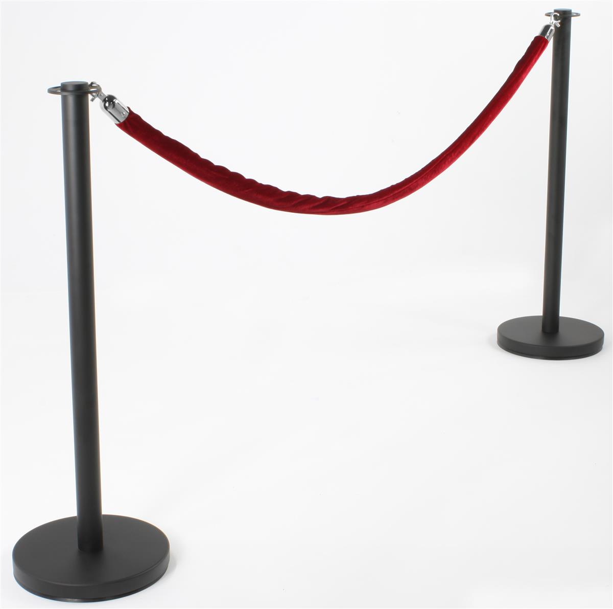 how to make red rope stanchion set