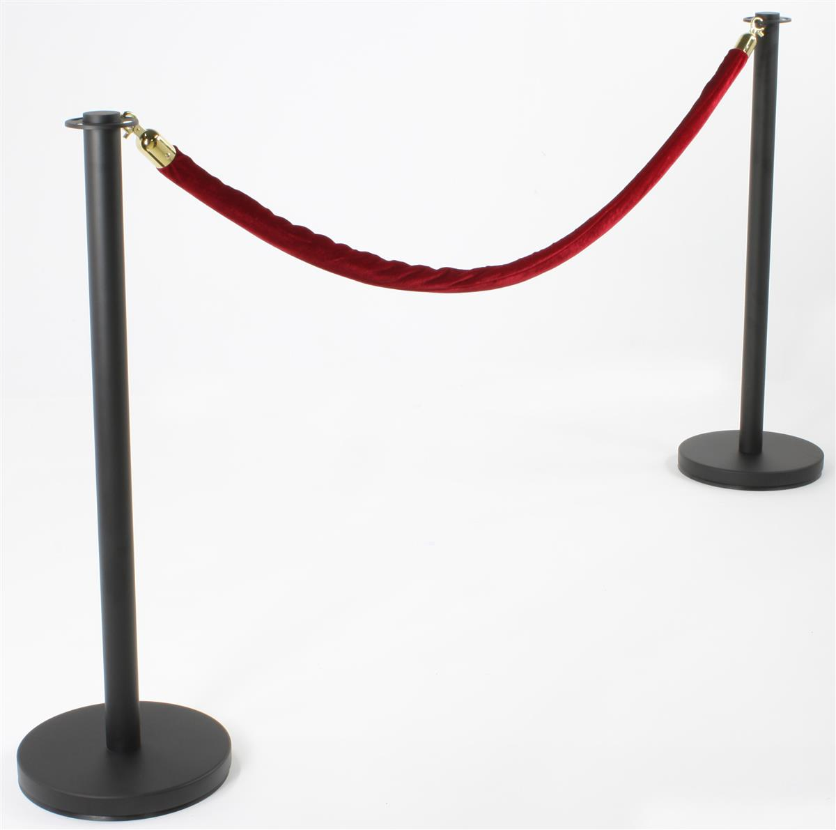 Stanchions For Sale >> Set of (2) Stanchion Posts - Burgundy Velvet Ropes