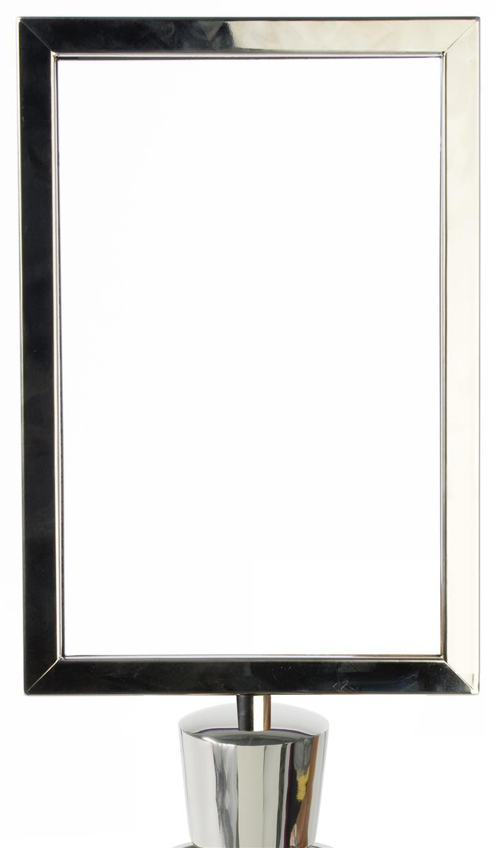 Stanchion Sign Frame - Chrome