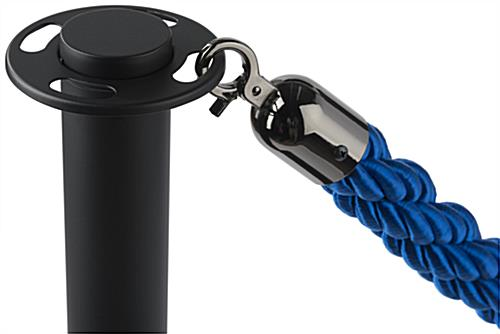 Blue Nylon Stanchion Rope Clipped