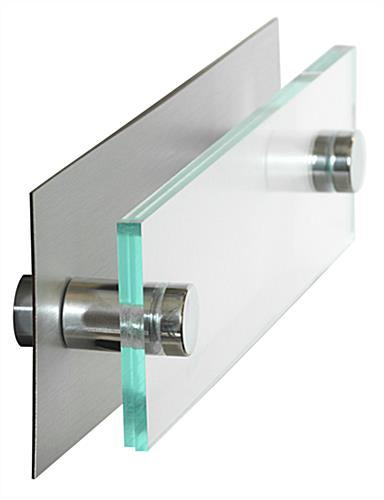 Standoff Office Sign With Silver Backer Clear Acrylic Panels