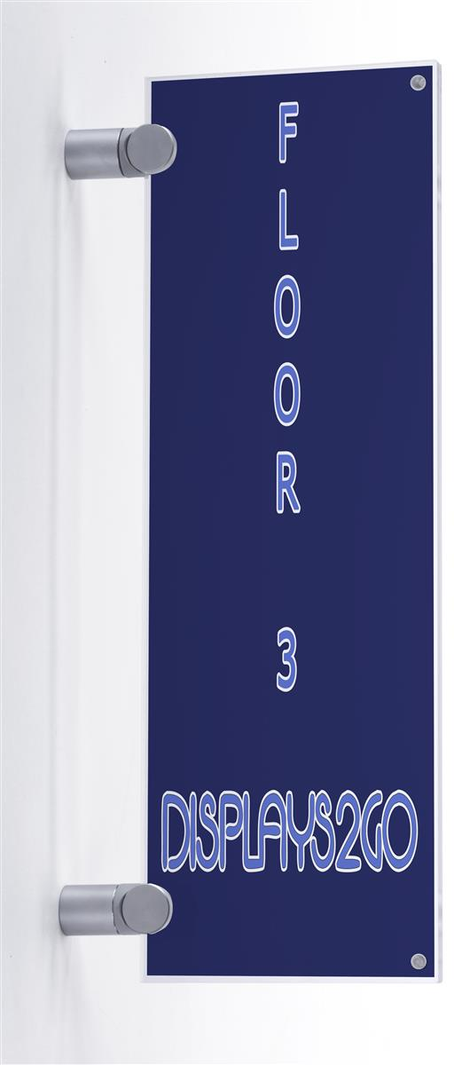 Sign Holder For Corridor Clear Acrylic