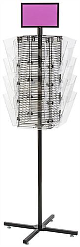 Rotating Grid Rack with Literature Holders Has Acrylic Attachments