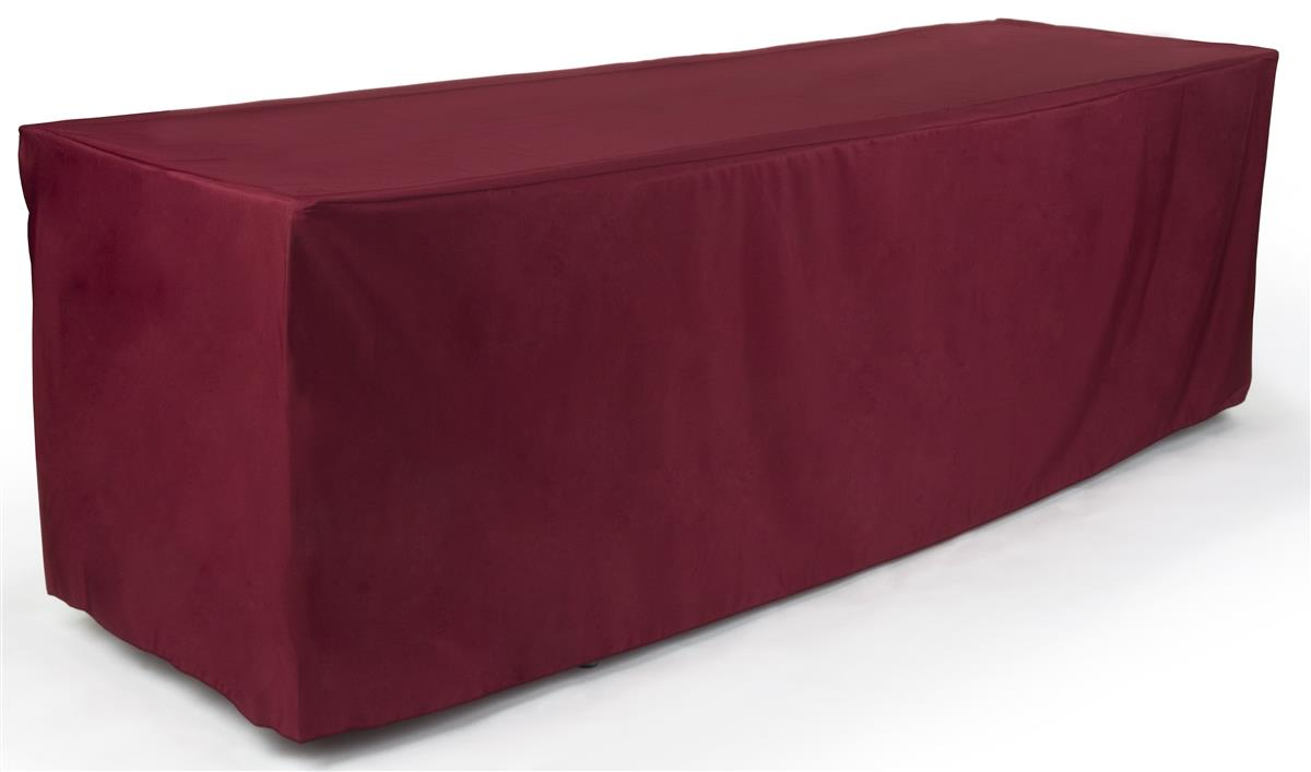 Polyester Table Cloth 96 Long In Burgundy